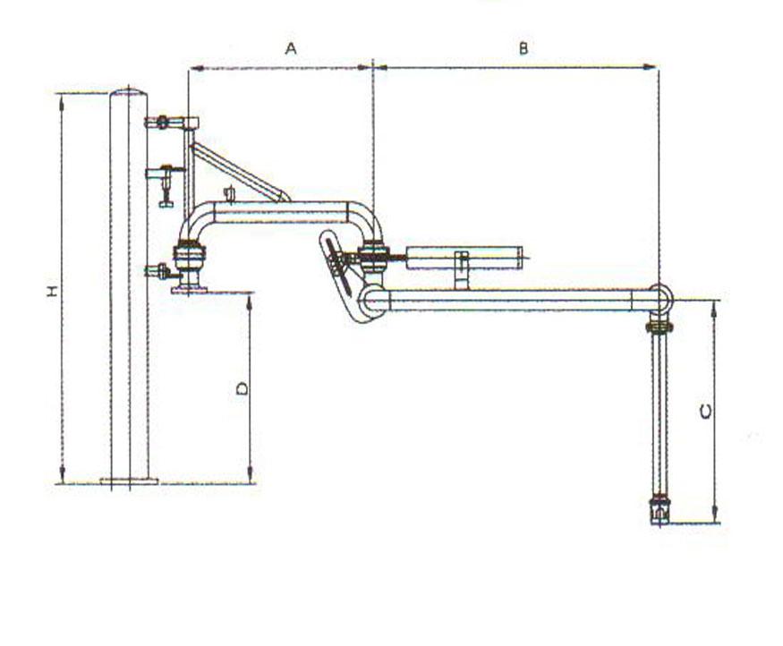 产品中心 油品装卸鹤管系列        al1403 型         使用场合:槽车